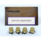 Set of 4 Bullet Buttons Brass+Brass for Playstation PS4 controllers