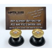 Pair of Thumbstick Bullet Brass+Nickel for PS3 Controller