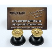 Pair of Thumbstick Bullet Brass+Brass for PS3 Controller