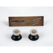 Pair of Thumbstick Bullet Nickel+Brass for PS4 Controller