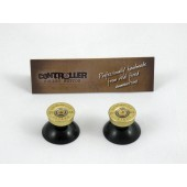Pair of Thumbstick Bullet Brass+Brass for PS4 Controller